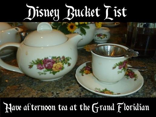 bucket list afternoon tea