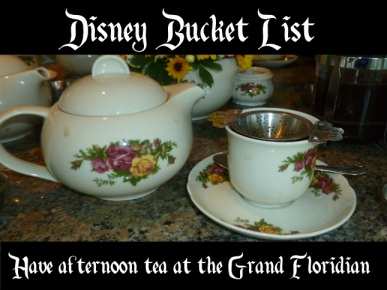 tea at the Grand Floridian - Disney in your Day