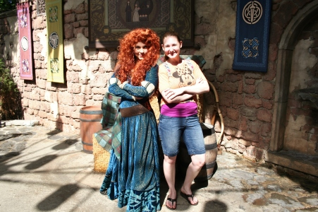 I could wait in line to meet Merida without anyone complaining!