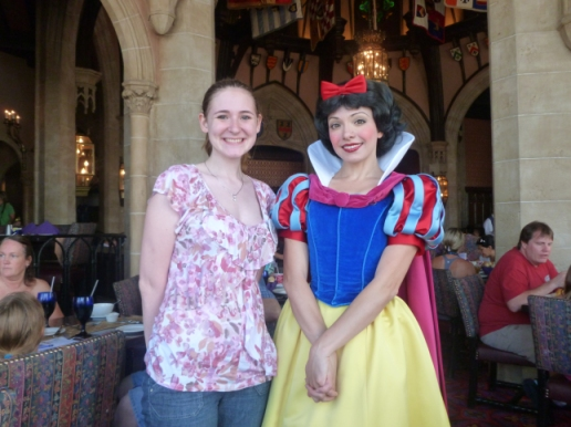 Snow White - I've met her multiple times at Cinderella's Table and Akershus.