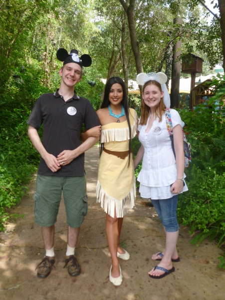 Pocahontas - she was hanging out in a random spot in Animal Kingdom!