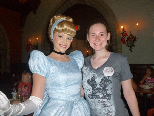 Cinderella - also met her at Cinderella's Table and Akershus.