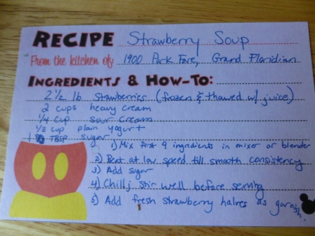 strawberry soup recipe - Disney in your Day