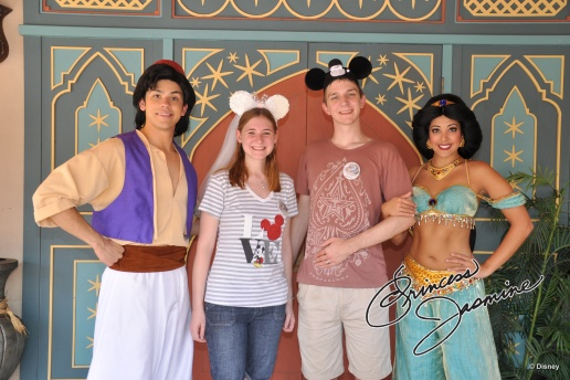 Jasmine - she hangs out with Aladdin in Adventureland.