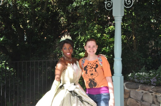 Tiana - I finally found her in Liberty Square!  My favorite princess after Belle.