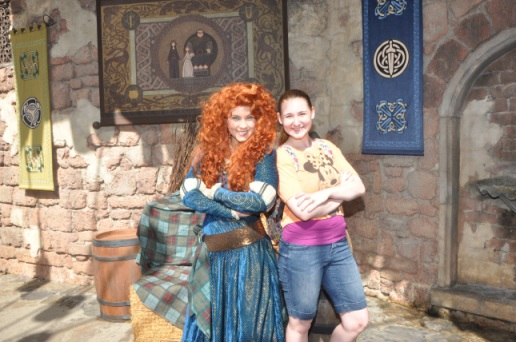 Merida - the most recent princess, she has her own meet and greet area in Magic Kingdom.