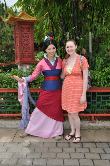 Mulan - she was the last one I needed to complete this bucket list item. I met her in Epcot in China.