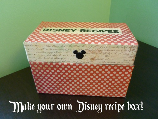 disney recipe box