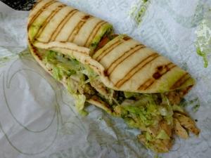 Mmm, $8 airport sandwich.