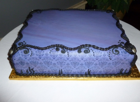Bart's Haunted Mansion groom's cake