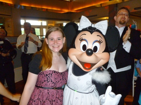 Me hanging out with Minnie and Danielle and Bart's wedding