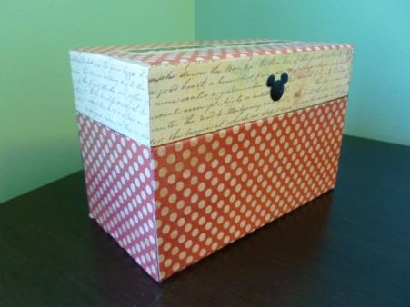 Disney recipe box - Disney in your Day