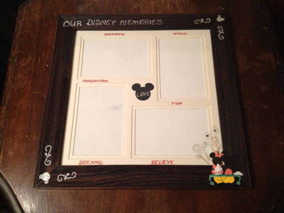 crafty corner how to make an awesome disney picture frame disney in your day