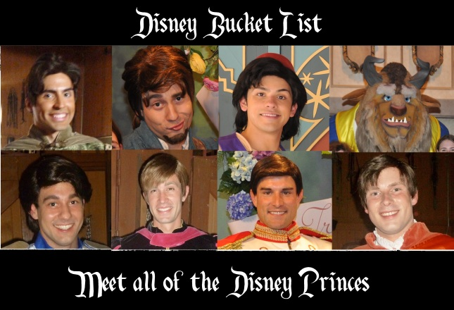 bucket list - princes