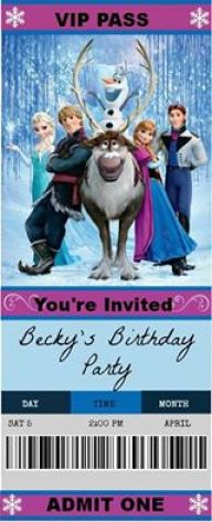 Frozen birthday party - Disney in your Day