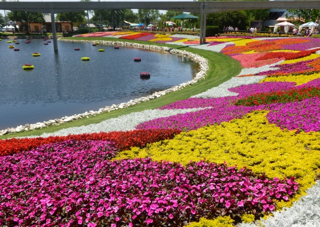 Epcot's Flower and Garden festival in April