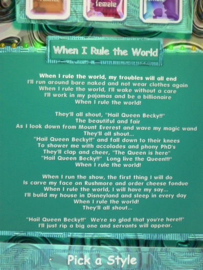 Just read those lyrics and tell me you wouldn't be laughing too.