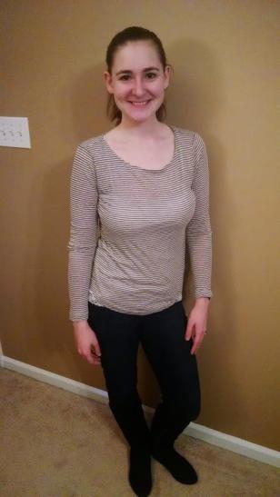 Kai Elbow Patch Striped Knit Shirt