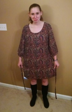 Yara Longsleeve Paisley Tie Waist Dress 2