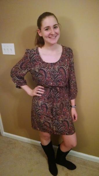 Yara Longsleeve Paisley Tie Waist Dress