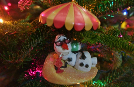 Frozen ornaments go with the Christmas spirit perfectly!