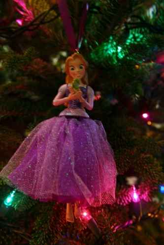 I love the Princess ornaments with the poofy dresses!