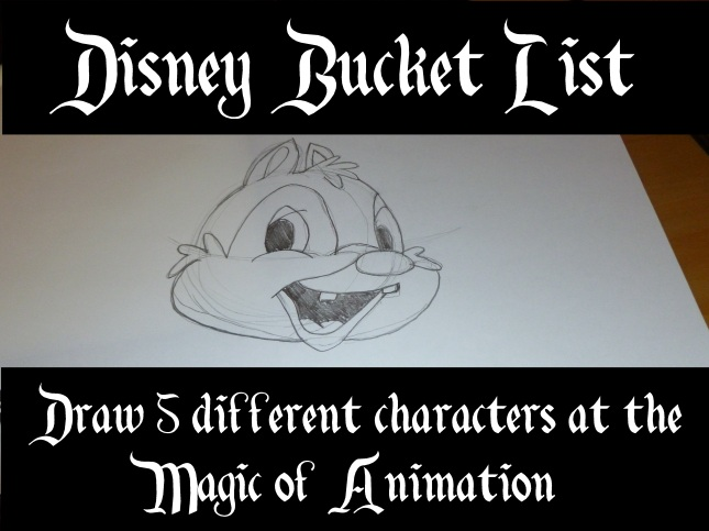 bucket list - draw 5 disney characters