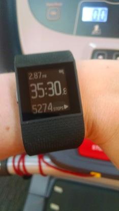 Treadmill workout on Surge