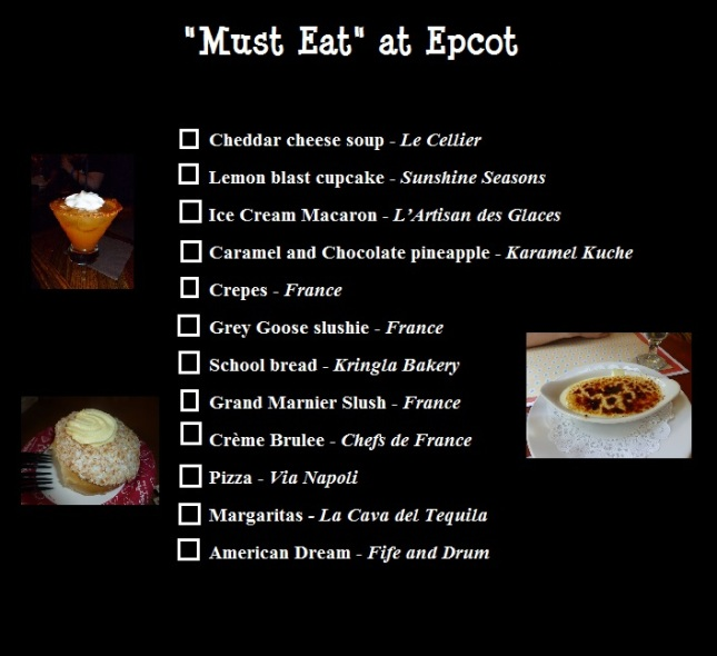 must eat epcot