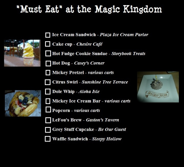 must eat magic kingdom